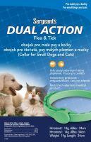 Sergeanťs Dual Action antipar. obojek kočka a malý pes 34cm