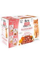 Brit Care Cat Fillets Gravy Flavour box 4x3ks (12x85g)