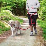 Pás na běh s pružným vodítkem pro střední a velké psy Trixie