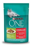 Purina ONE Sterilcat Mini filetky s krůtou 85g