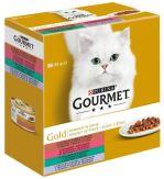 Gourmet Gold cat konzerva kousky ve šťávě se zeleninou 8x85g
