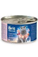 Brit Premium Cat by Nature konzerva Chicken&Hearts 200g