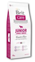 Brit Care Dog Junior Large Breed Lamb & Rice 12kg - poškozené