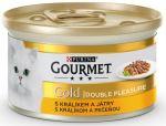 Gourmet Gold cat konzerva dušené a grilované kousky králík a játra 85g