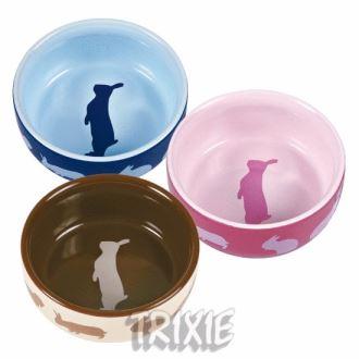Keramická miska pro hlodavce, Trixie 250ml/11cm - králík