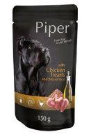 PIPER Animals kapsička s kuřecím srdcem a rýží 150g