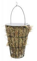 Košík na seno s víkem, k zavěšení, ø 9cm / ø 16×21cm