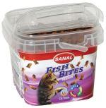 SANAL FISH BITES - snack rybičky pro kočky 75g