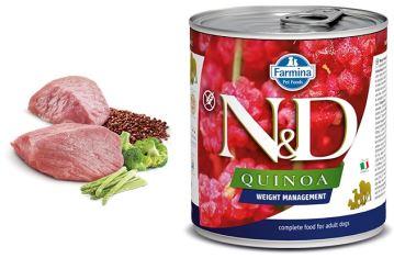 N&D DOG QUINOA Adult Weight Management Lamb & Brocolli 285g