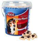 Soft Snack Happy Hearts - srdíčka jehněčí s rýží,kyblík 500g Trixie