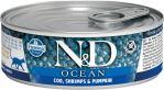 N&D CAT OCEAN Adult Codfish & Shrimps & Pumpkin 80g - 1 + 1 ZDARMA
