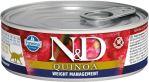 N&D CAT QUINOA Adult Weight Management Lamb & Brocolli 80g - 1 + 1 ZDARMA