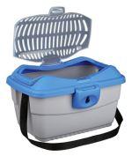 Transportní kufřík MINI CAPRI 40 x 22 x 30 cm max. do 2kg TRIXIE - modro/šedá