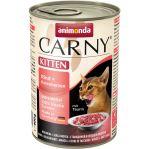 Konzerva ANIMONDA Carny kitten hovězí + krůtí srdíčka 400g