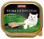 Paštika ANIMONDA Vom Feinsten CORE hovězí, losos filet + špenát pro kočky 100g