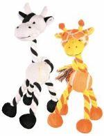 Žirafa/kravička s tenisovým míčem 28cm Trixie