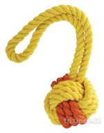Kombinovaný Monty míč přírodní guma a bavlna s poutkem 24cm KIDDOG