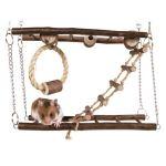 Natural Living dřevěný most dvojitý pro myši, křečky 27 x 17 x 7 cm