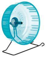 Tréninkové kolo s kovovým stojanem pro křečky, plastové 23cm