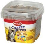 SANAL CHEESE BITES - plněný snack se sýrem, křupavý 75g