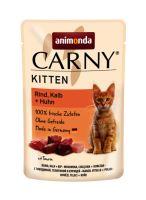 Carny Kitten 85g hovězí, telecí+kuřecí, kapsička pro koťata