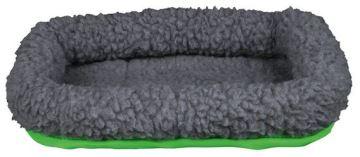Vlněný pelíšek pro morče 30 x 22 cm, šedá/zelená