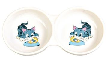 Porcelánová malovaná dvojmiska, Trixie