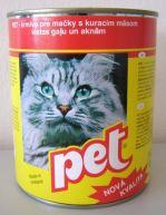 PET KATZE kostky s drůbežím masem pro kočky