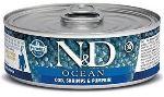 N&D CAT OCEAN Kitten Codfish & Shrimps & Pumpkin 80g - 1 + 1 ZDARMA