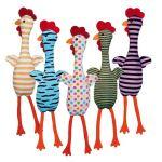 Plyšové kuře se zvukem, různé barvy a motivy 48cm