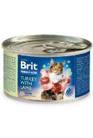 Brit Premium Cat by Nature konzerva Turkey&Lamb 200g