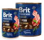 Brit Premium Dog by Nature konzerva Pork & Trachea 800g