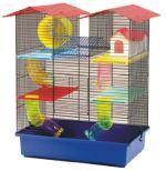 Klec SMALL ANIMAL CH2 modrá + červená 55x38x62cm