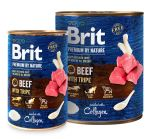 Brit Premium Dog by Nature konzerva Beef & Tripe 800g