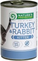Nature's Protection Cat konz.Kitten krůta/králík 400g