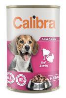 Calibra Dog konzerva Veal&turkey in gravy 1240g NEW