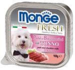 MONGE FRESH - paštika a kousky s tuňákem 100g pro psy