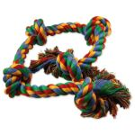 Uzel DOG FANTASY bavlněný barevný 5 knotů 95cm