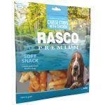 Pochoutka RASCO Premium proužky sýru obalené kuřecím masem 500g