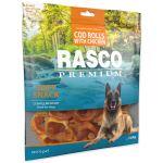 Pochoutka RASCO Premium tresčí rolky obalené kuřecím masem 500g
