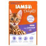 Kapsička IAMS Kitten delights kuřecí v omáčce 85g