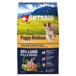 ONTARIO Puppy Medium Lamb & Rice 6,5kg