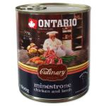 Konzerva ONTARIO Culinary Minestrone Chicken and Lamb 800g