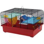 Klec SMALL ANIMAL CH1 černá + červená 49x32,5x29cm