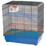 Klec SMALL ANIMAL Tom I chromová + modrá 60x37x64cm