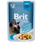 Kapsička BRIT Premium Cat Delicate Fillets in Gravy with Chicken 85g