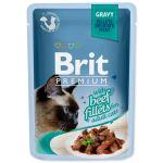 Kapsička BRIT Premium Cat Delicate Fillets in Gravy with Beef 85g
