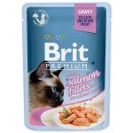 Kapsička BRIT Premium Cat Delicate Fillets in Gravy with Salmon for Sterilised 85g