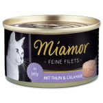 Konzerva MIAMOR Feine Filets tuňák + kalamáry v želé 100g
