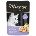 Kapsička MIAMOR Feine filets tuňák + kalamáry v želé 100g